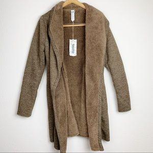 Monoreno Brown Long Open Cardigan Sweater NWT